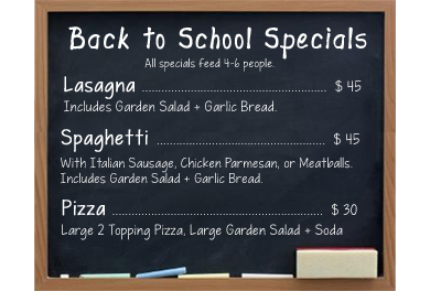back to school specials website